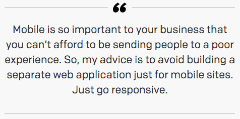 Airbnb: We built a separate mobile website, and now we say: don't do that. Just go responsive. http://t.co/zL3JfJpU8p http://t.co/b53noxbKFJ