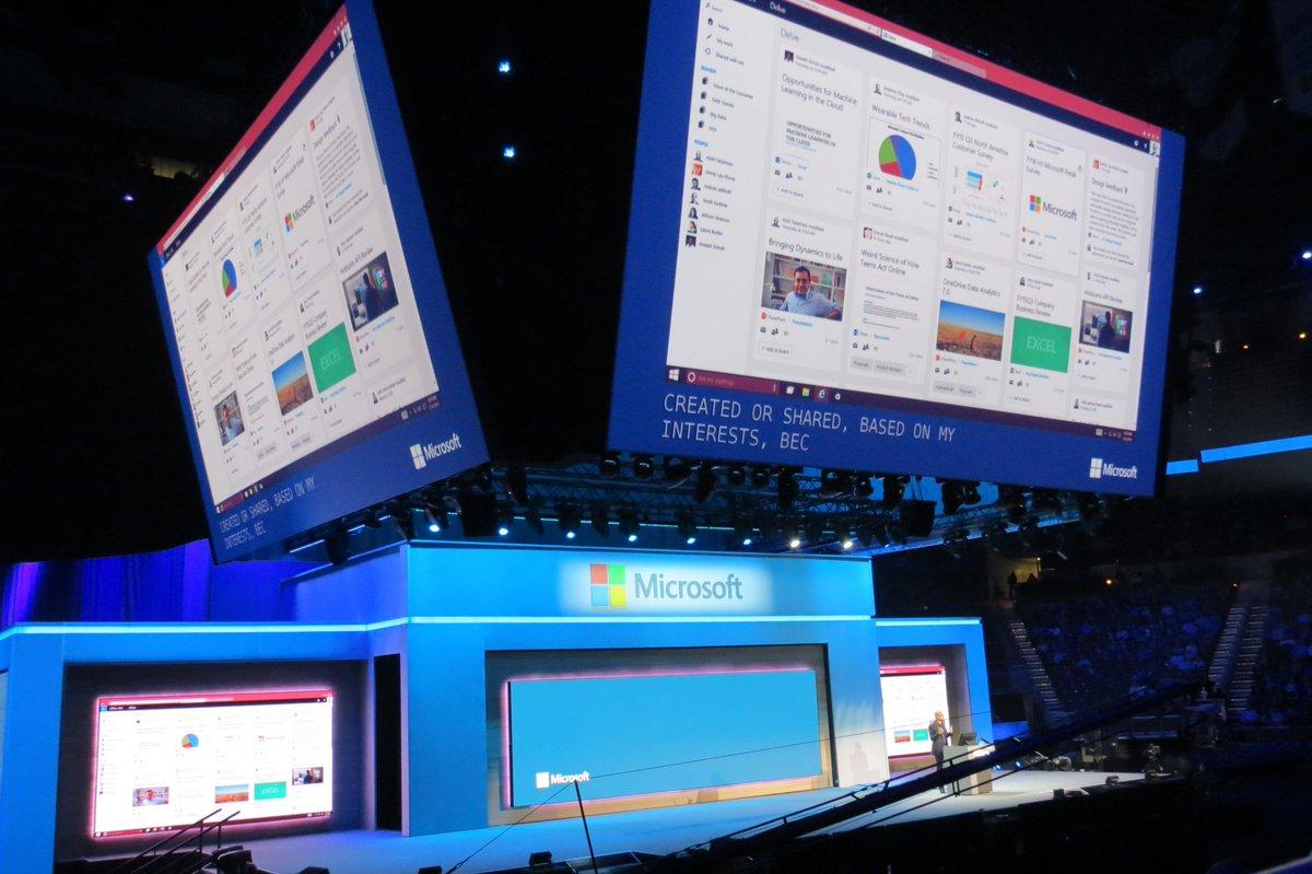 Satya Nadella, CEO de Microsoft anuncia Delve, nueva plataforma de información y colaboración empresarial #CONV15 http://t.co/E1LzVMnfie