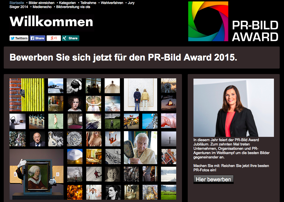10 Jahre PR-Bild Award: Startschuss für die Jubiläumsrunde. JETZT BEWERBEN! http://t.co/RBDF30OnjS #prba15 /fh http://t.co/u9d1ogauBg