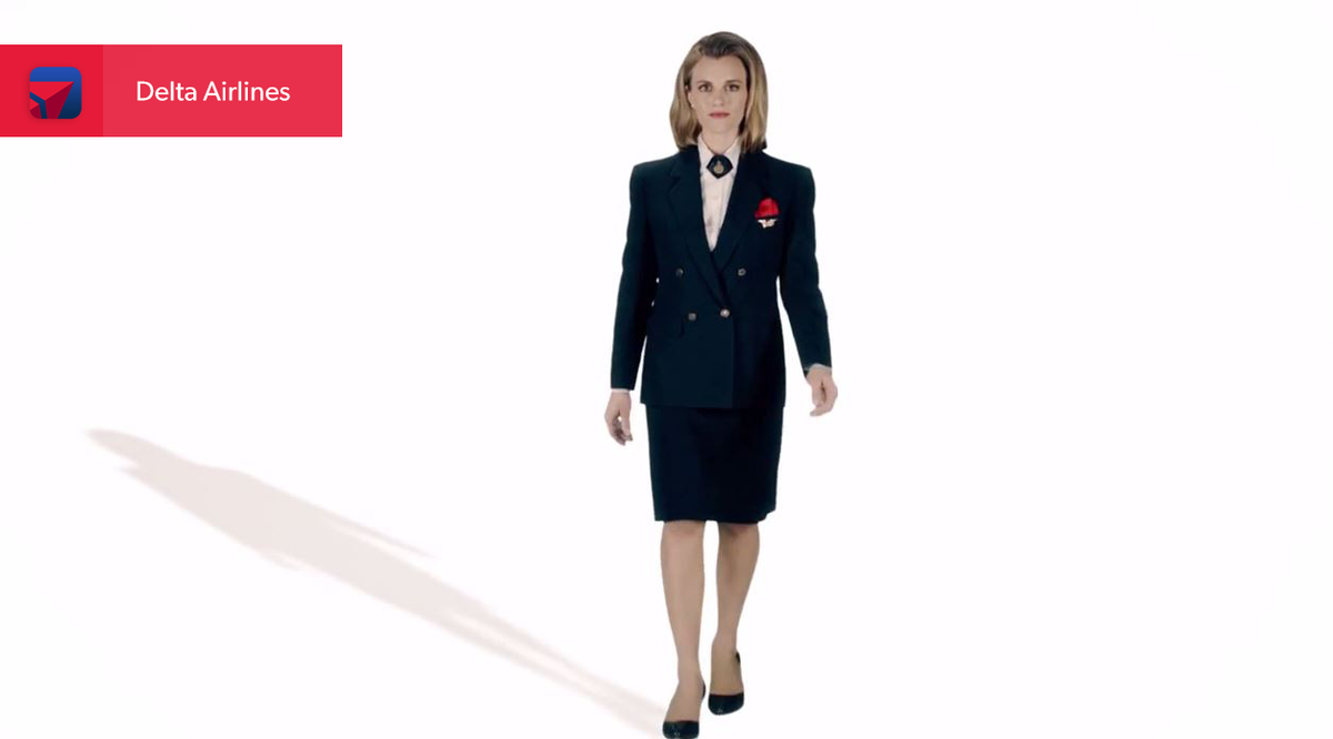 Take a journey through 75 years of @Delta flight attendant uniforms with this cool video: