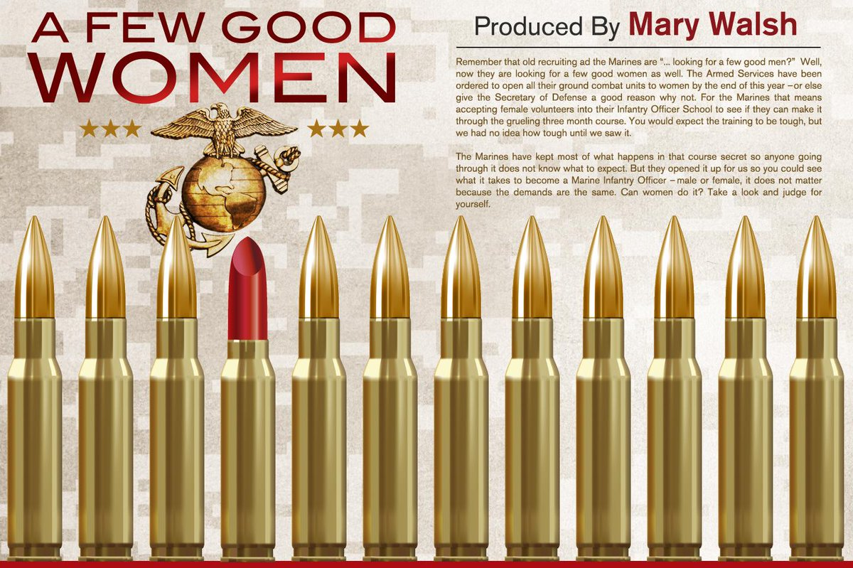 Probably not if they use lipstick as bullets RT @60Minutes: Do women have what it takes to serve in Marine Infantry? http://t.co/BSOA0zOHYg
