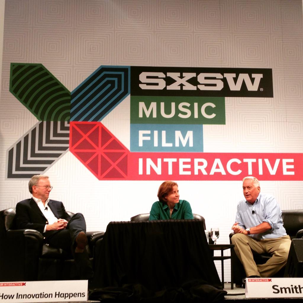 "Happening now! @USCTO Megan Smith talks ""How Innovation Happens"" at #SXSW watch live: http://t.co/7d1cOZ9p00 http://t.co/CcqY2zE7tT"