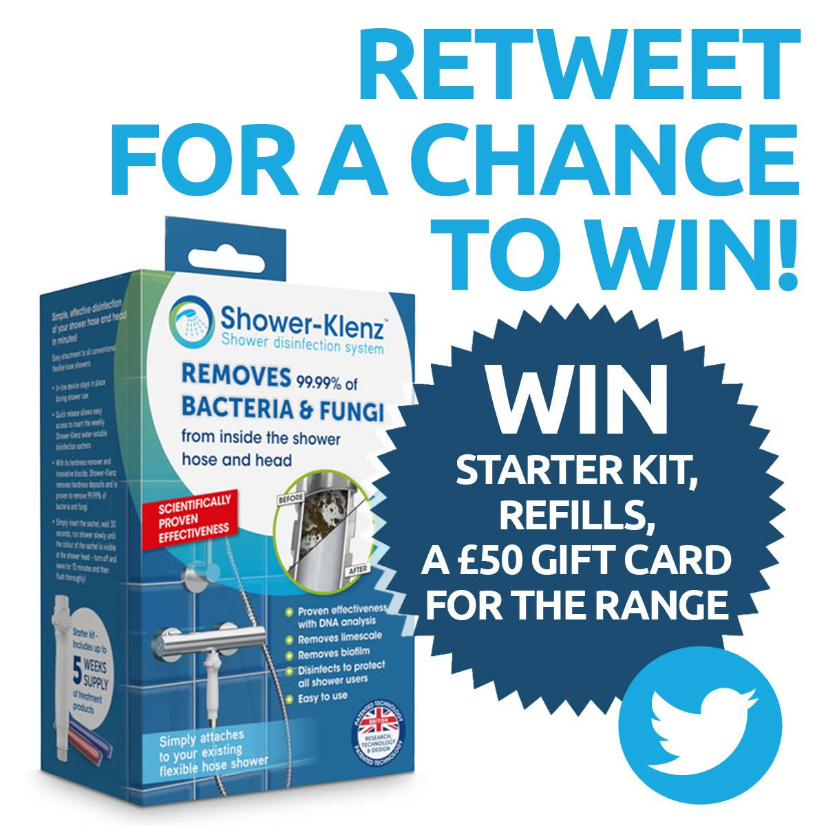 Kick start your #SpringClean with @ShowerKlenz and The Range! RT to win a Shower-Klenz Bundle. #competition #win http://t.co/HfOKZetzJt