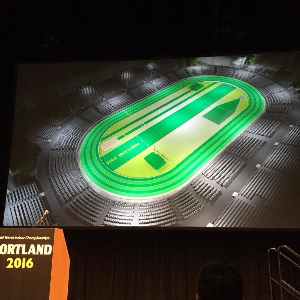 Wow! What the indoor track will look like #Portland2016 http://t.co/vXSgp9uw3V