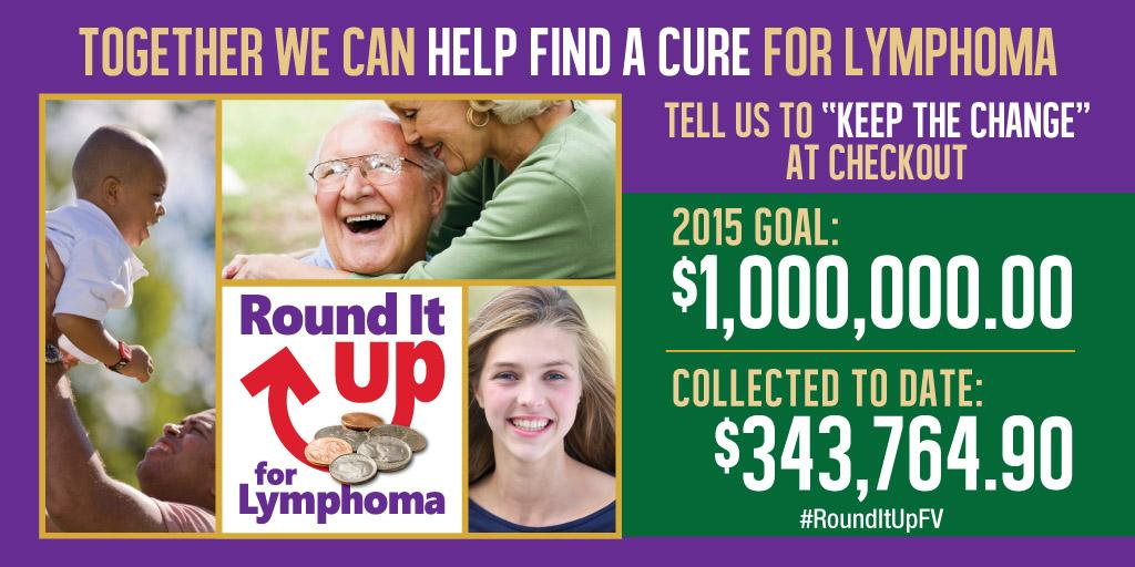 WOW! After the first weekend of #RoundItUpFv, you've helped us raise $343,764.90 to help find a cure for #@lymphoma! http://t.co/uUbvh6Z4aw