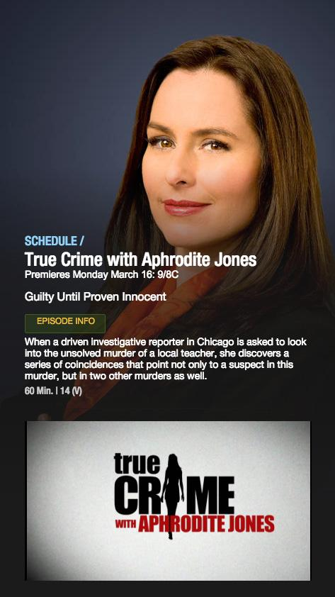 Less than two hours left before the season premier of #TrueCrime with @Aphrodite_Jones airs. #IDAddicts #tweetme http://t.co/QChgAcxSQY