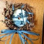 annimae9: Collectible Hand Painted Winter Blues Pond Sawblade Mini Wreath #Bonanza #handmade #minisaw  … https://t.co/vAJ1XQJ6oj
