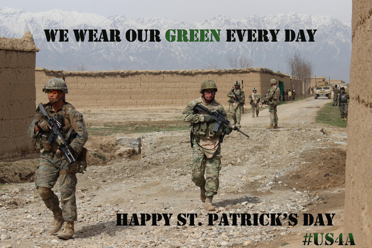 Don't forget your green today. http://t.co/HvXNwNdXOc  #US4A #ResoluteSupport #StPatricksDay http://t.co/T2B80gkKfI