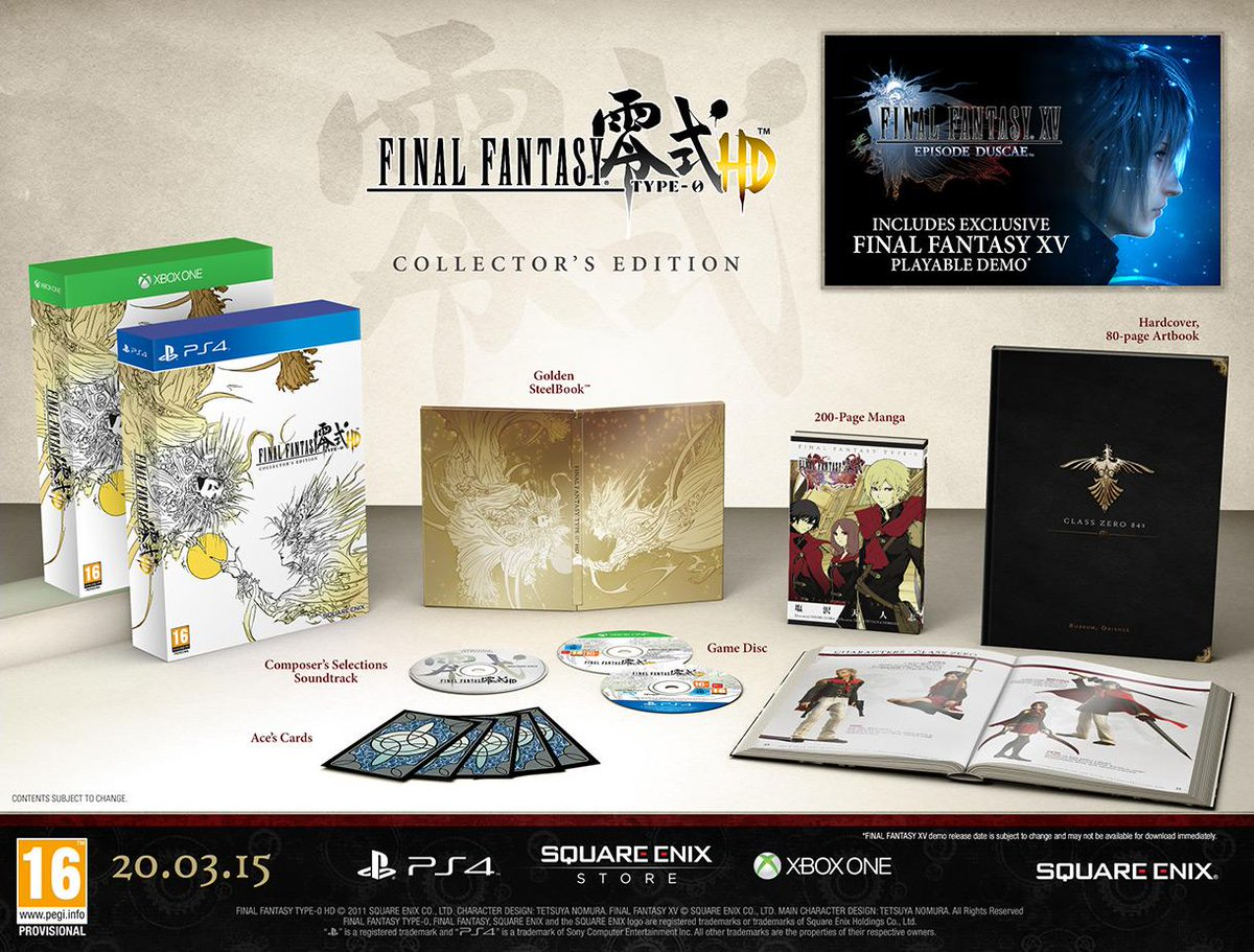 Follow & RT for a chance to win a Final Fantasy Type-0 CE T&Cs @VideoGamerCom http://t.co/6Kid3nYQpI http://t.co/so9gdib1Hq