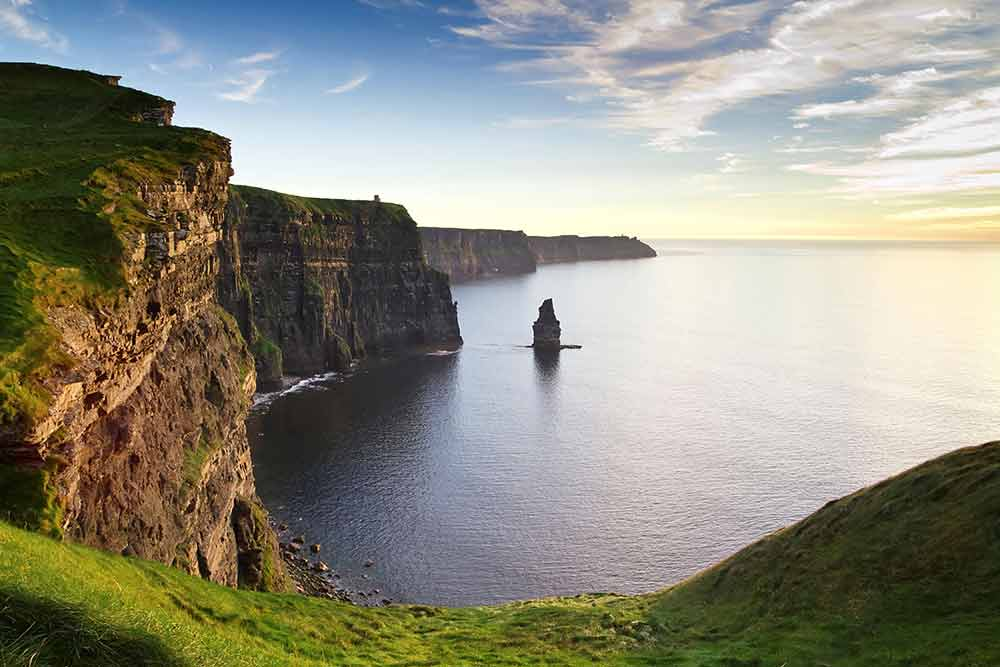 Here's a touch of green for your StPatricksDay. Ireland's Cliffs of Moher are breathtaking.