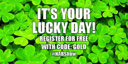Retweet 4 a chance to win a $100 Amazon giftcard. Free #NABShow Exhibits access w/ code GOLD   http://t.co/rEzqZwPrpi http://t.co/poHtodnmYB