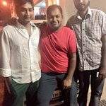 With @dir_thiru and Na muthukumar for @Actor_Jai @Sush3003 @Varunmanian @trishtrashers had a fabulous day at work :)
