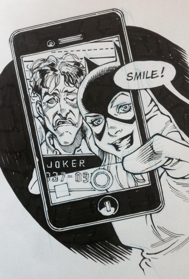 #Batgirl sketch...  #SMILE http://t.co/2yR6oVOasq