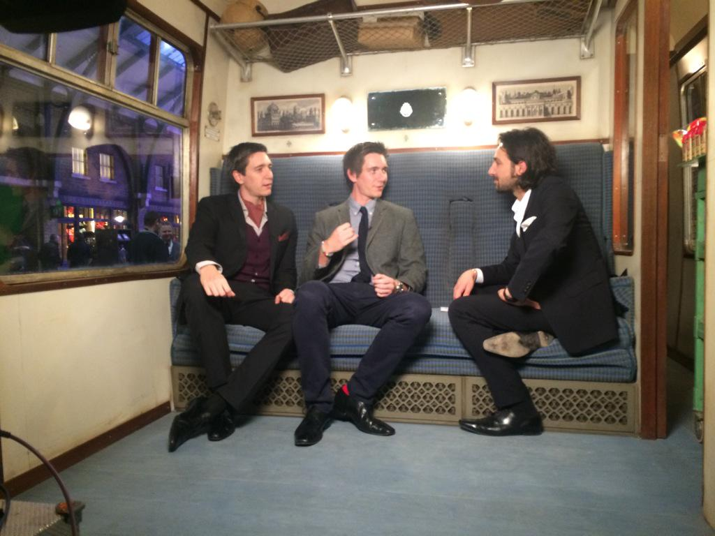 Just got to ride the #HogwartsExpress with the Weasley Twins! @James_Phelps @OliverPhelps @wbtourlondon http://t.co/Es24R7bhgK