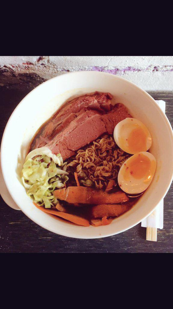 Pretty sure we're the only bowl of Corned Beef n Cabbage Ramen in town! On special for St Paddy's Day @FoolsGoldNYC http://t.co/mC0Y6mHmdu