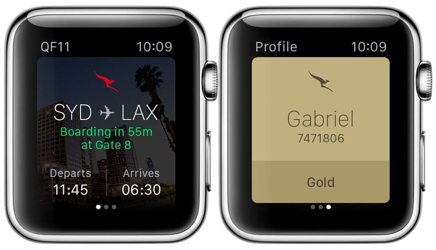 New Qantas app for AppleWatch, up-to-the-minute information on hand, or rather on your wrist.