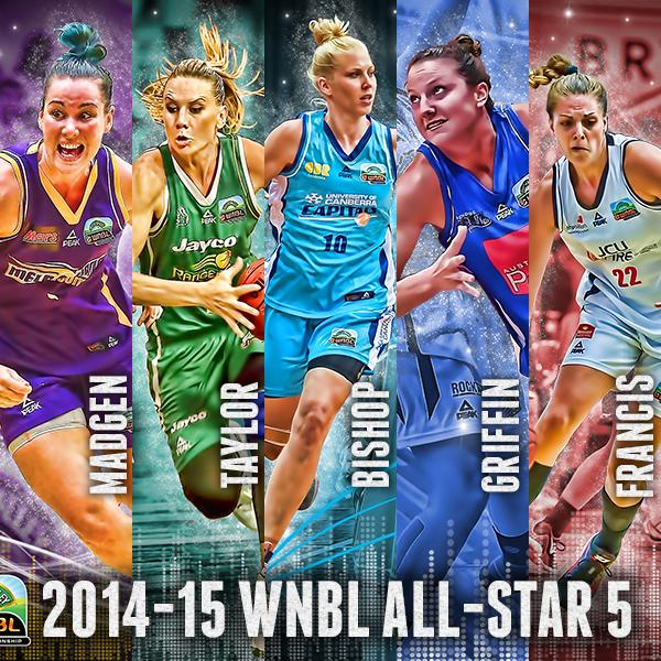 Meet your 2014-15 WNBL All-Star Five - Penny Taylor, @Abby_Knight10, @CaylaFrancis, @tessmadgen and @KelseyGriffin23. http://t.co/mc7V9cuQle