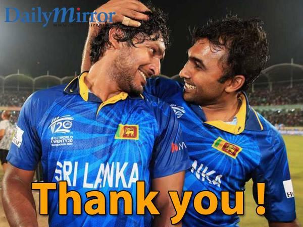 Thank you ! Mahela and Sangakkara #respect http://t.co/M5BTbukK3Z