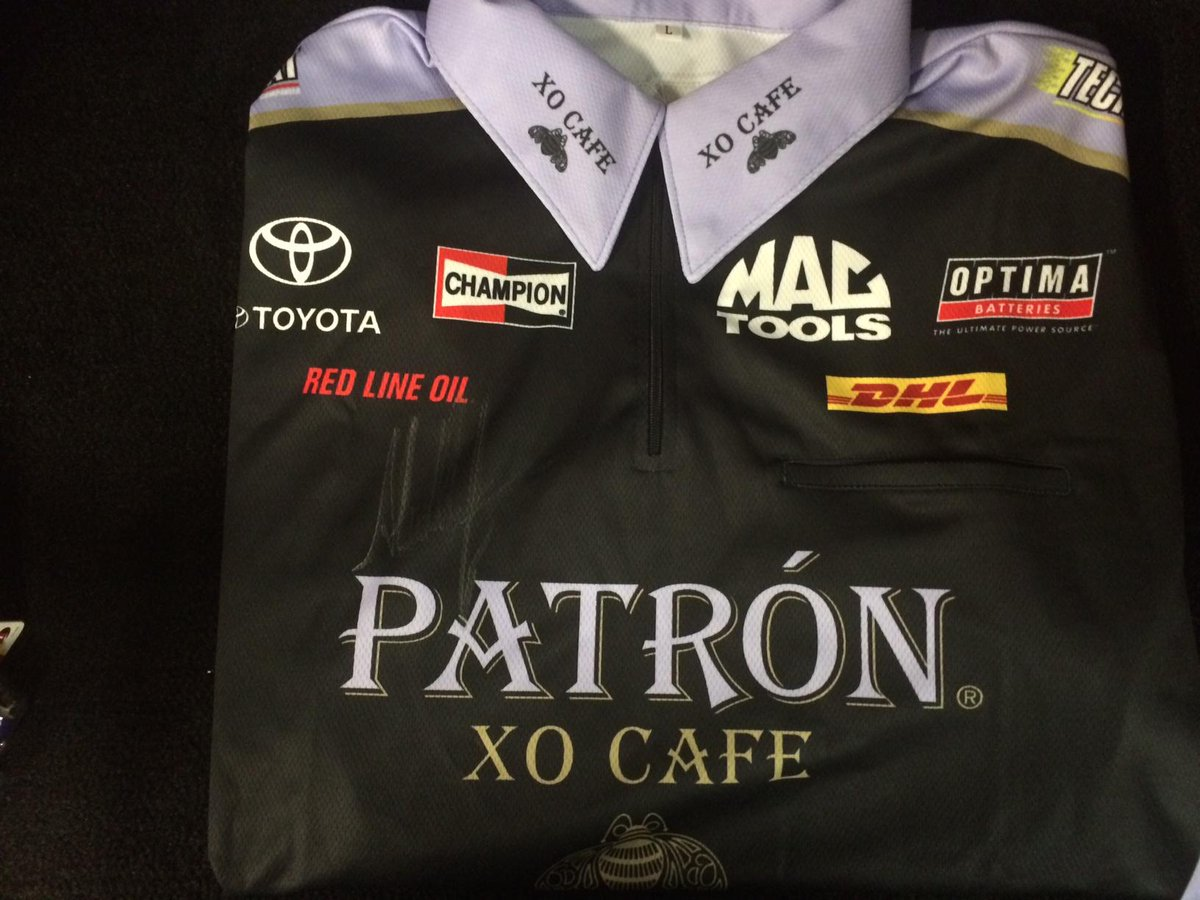 Here it is! An autographed @ADRnhra crew shirt! Retweet this tweet to have a chance to win w/ #WinItWednesday! #NHRA http://t.co/nwrS0sxpIw