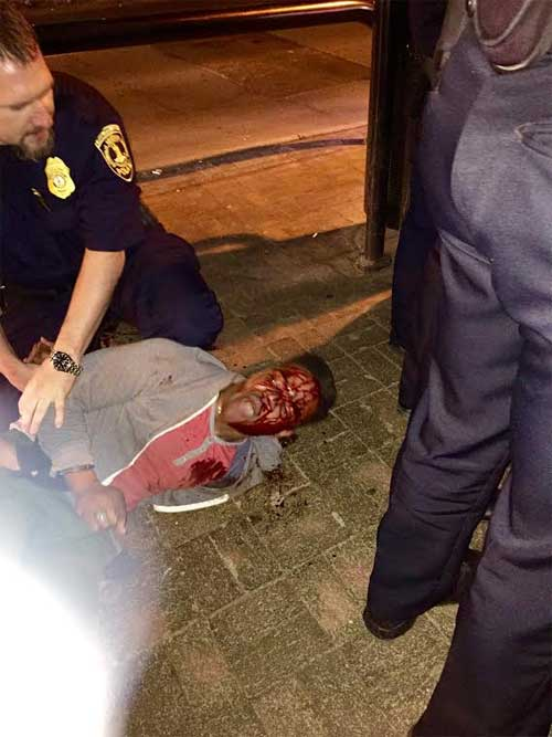 We are investigating reports of a UVA student's arrest this A.M. This picture has sparked scrutiny, details to come. http://t.co/avY783myzt