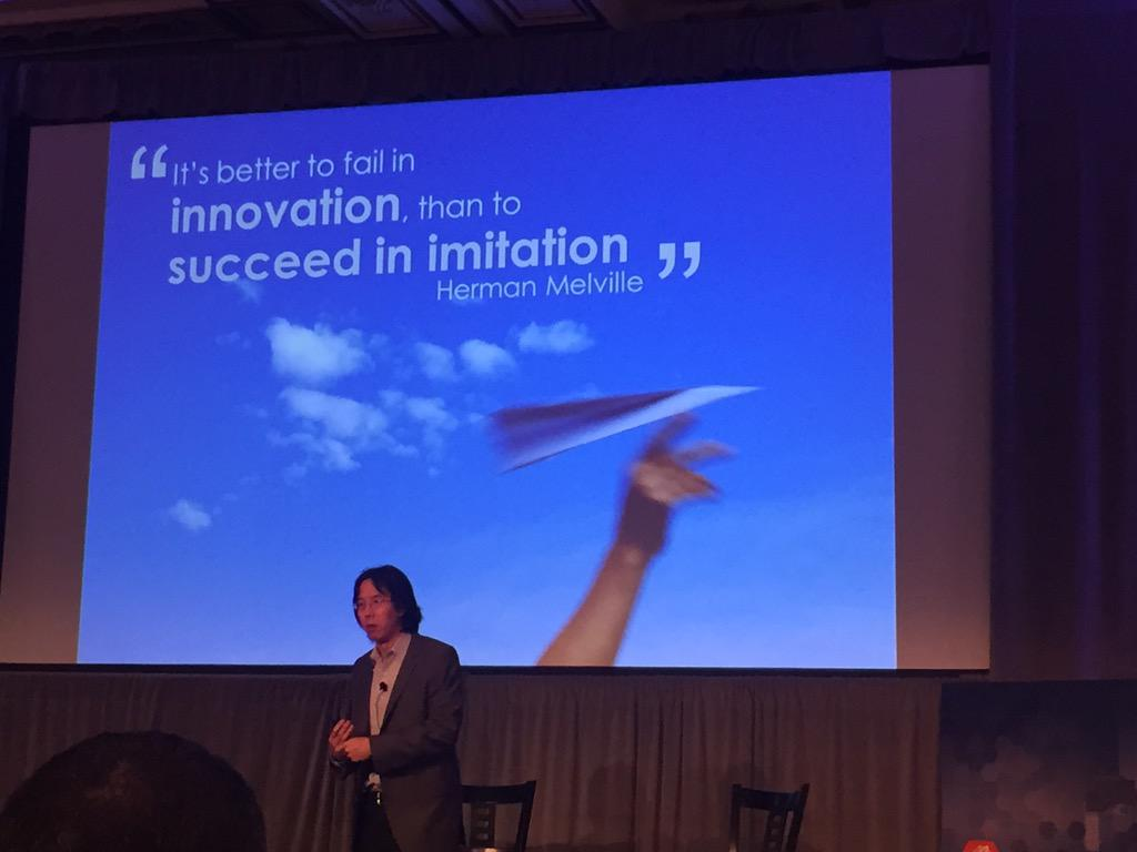 """It's better to fail in innovation, than to succeed in imitation""- Herman Melville #CleantechSF @formation8vc http://t.co/qcxrMe2F1U"