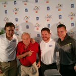 Thx to @JanssenUS on teaming me up w/ legend Arnold Palmer & a pro driver, to share our stories #partner