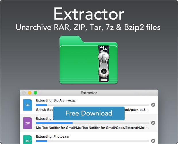 Extractor for Mac is an app that can be used to unarchive a range of files Download for Free: http://t.co/RL6pmMWAKb http://t.co/e9fxgZklsJ