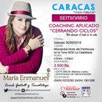2o. SEMINARIO DE #COACHING CERRANDO CICLOS * 30 de mayo * #Caracas * (414)1633202 @enmanuela http://t.co/z8Mrrv3kwT #gestalt