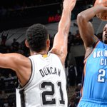 Spurs lead Thunder 71-50  at the half.  #SASvsOKC #GoSpursGo http://t.co/vgmyGL0UFL
