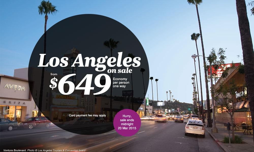 Flights to LA from $649 on sale now!
