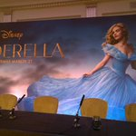 We're ready and waiting for the #Cinderella press conference to start. Are you excited for the film?