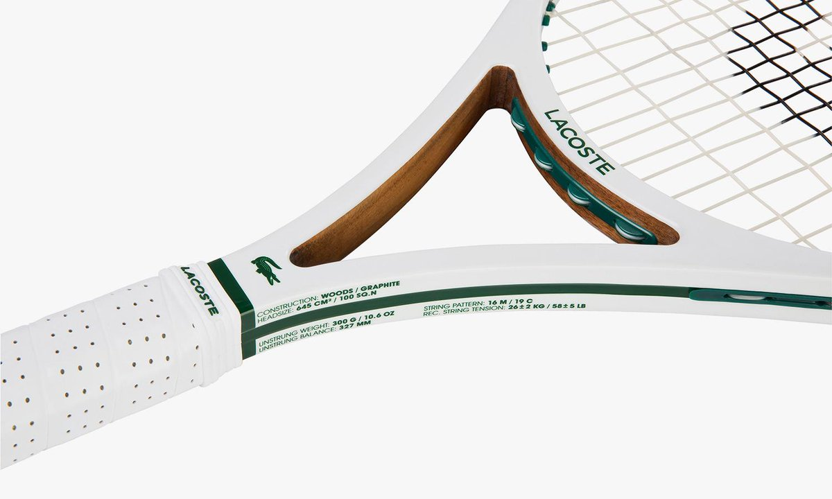 Made in France, @LACOSTE release the innovative, limited edition L12 tennis racket http://t.co/f1TG8KfoMq http://t.co/KOWgQ51ztf