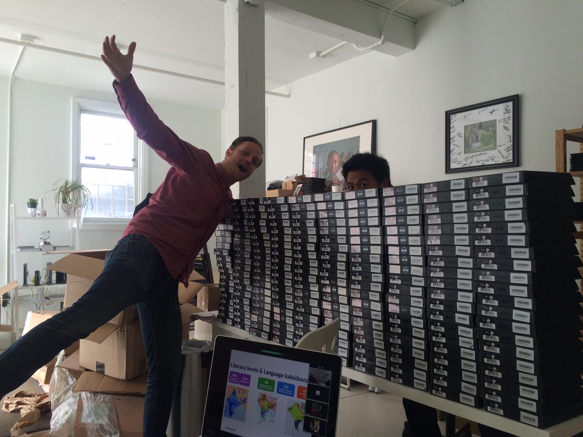 Our #SF team assembling 400 Kindles with 67,200 books! All headed to Ghana's Volta Region thanks to @PencilsOfPromis. http://t.co/h3O08aTadI