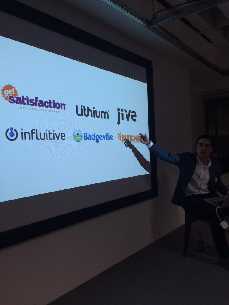 .@getsatisfaction @LithiumTech & @JiveSoftware mentioned as community platforms tonight at #cmgrLDN. http://t.co/V1fA6BmS4k