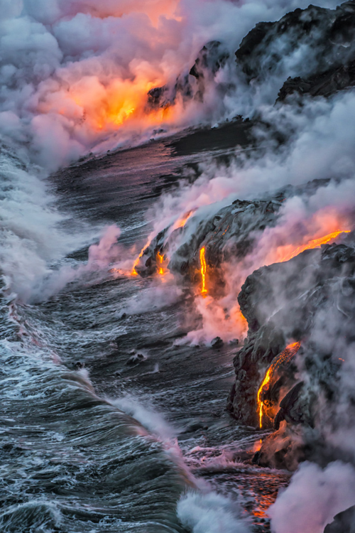 Where the lava meets the sea, Hawaii: http://t.co/Gy45c12CCA