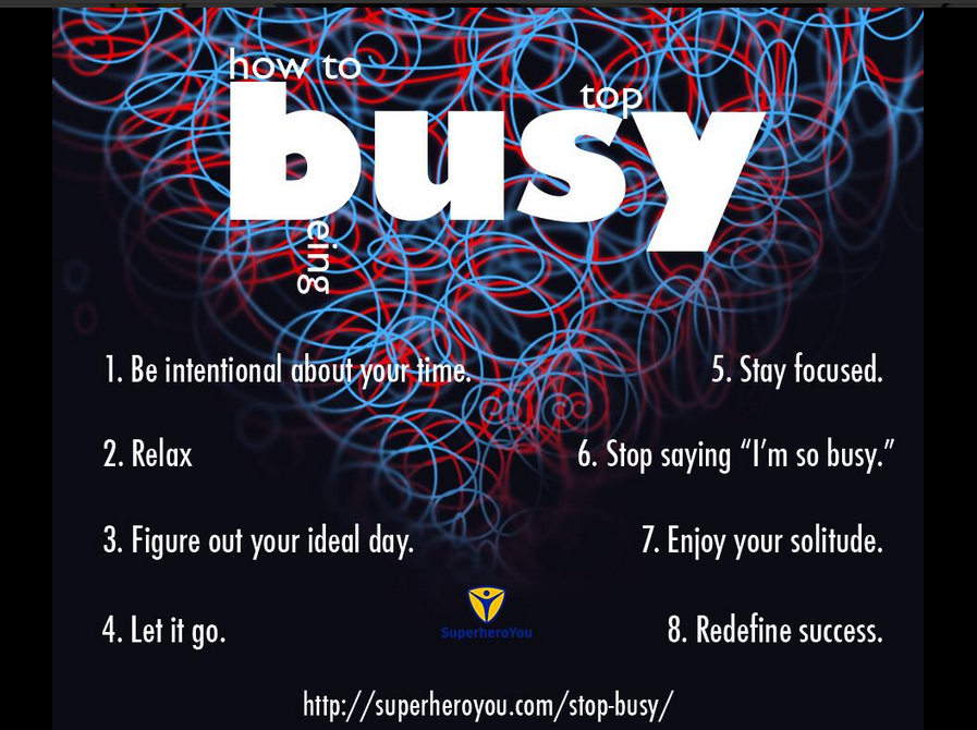 How to Stop Being Busy http://t.co/4U2VmsGgIG http://t.co/aSiea4aRwb