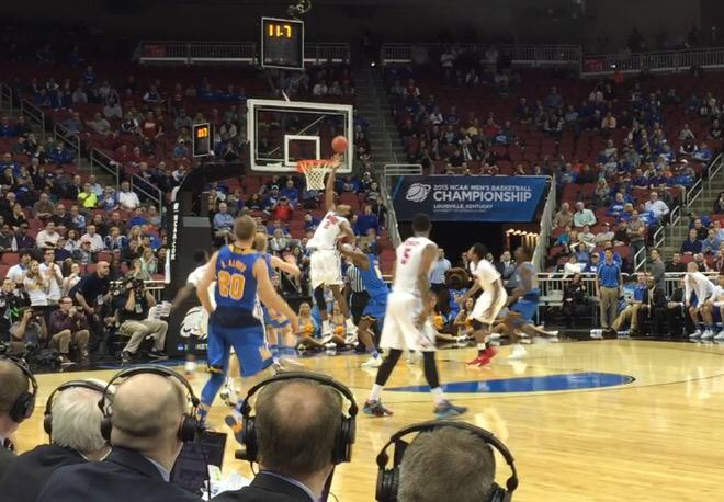 My view of the SMU goaltending call...From this angle, I think that shot was way off the mark. http://t.co/oXNHIZpnvG