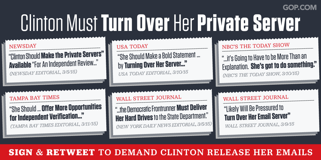 Read the scathing headlines on @HillaryClinton's growing email scandal: