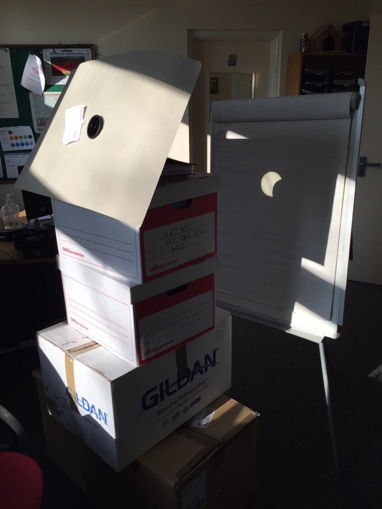 It's started! #eclipse2015 #eclipse #darnimresourceful @DerekTheWeather http://t.co/MxUnMdnxjh