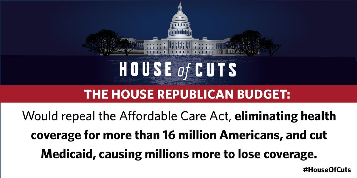 I oppose the #GOPbudget that would take away quality, affordable health insurance coverage for millions of Americans. http://t.co/V5UdTFcZIX