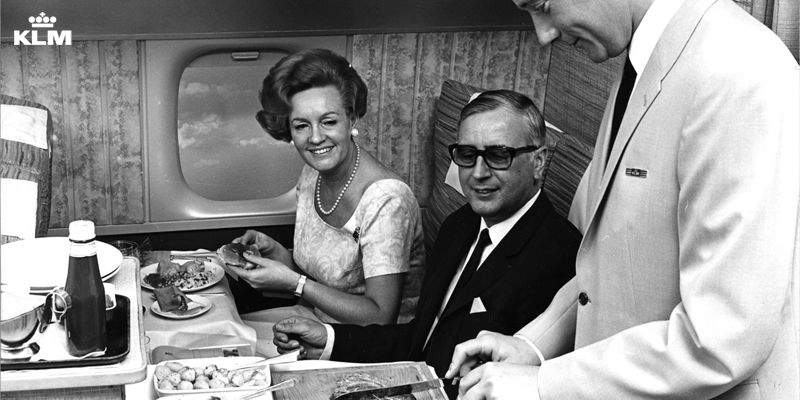 Wondering how many chickens KLM catering served on flights in 1965?