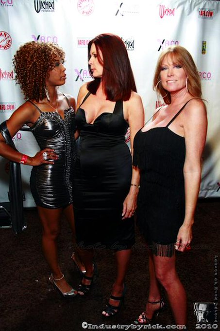 A candid pic from the @XRCOAwards a few years ago... #FullyDressedFriday #DarlaCrane #MagdaleneStMichaels