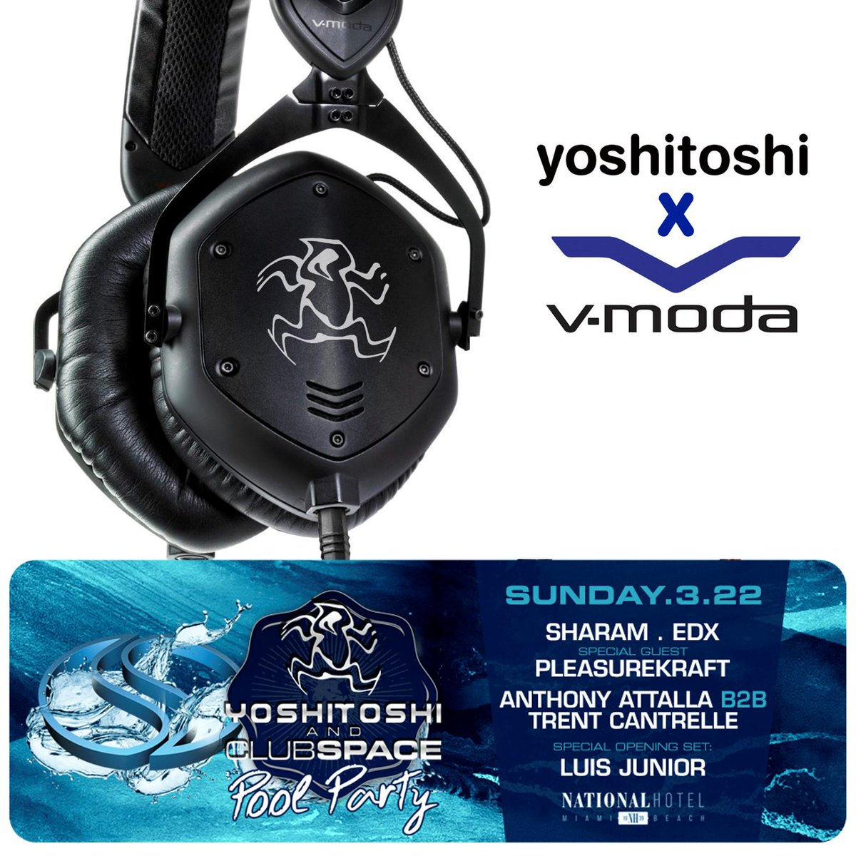 #RT to win - we're celebrating #MiamiMusicWeek by giving away a pair of custom @Yoshitoshi x @VMODA M-100's! http://t.co/ZG7hVdqTN4