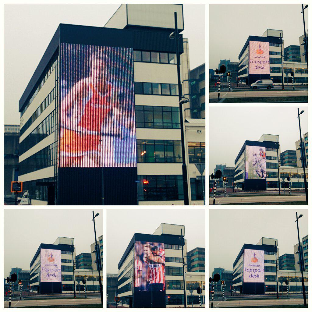 Een LED wall ter grootte van een voetbalveld? Eindhoven heeft het :) @SXEindhoven #cool http://t.co/wTYj2fOyUp