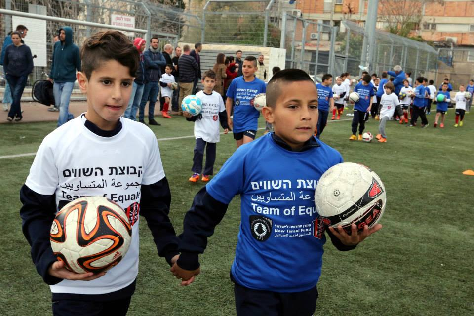We're funding a new soccer academy for Jewish and Arab kids from Jerusalem. The kids will train together every week. http://t.co/biDfN30hKI