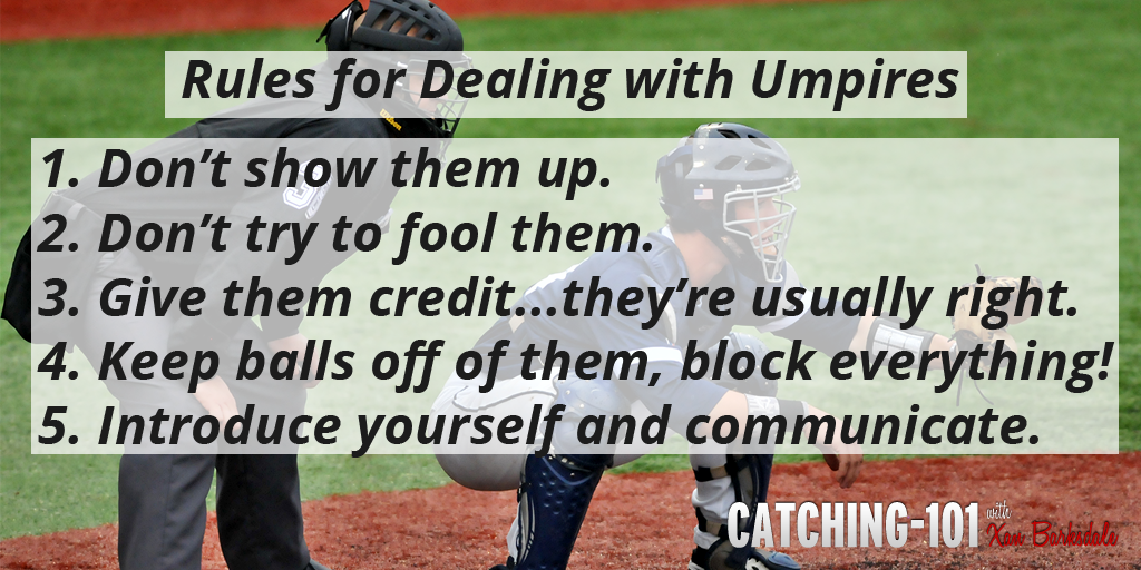 Take care of your umpires and they'll take care of you! http://t.co/BSrQCnPLbs