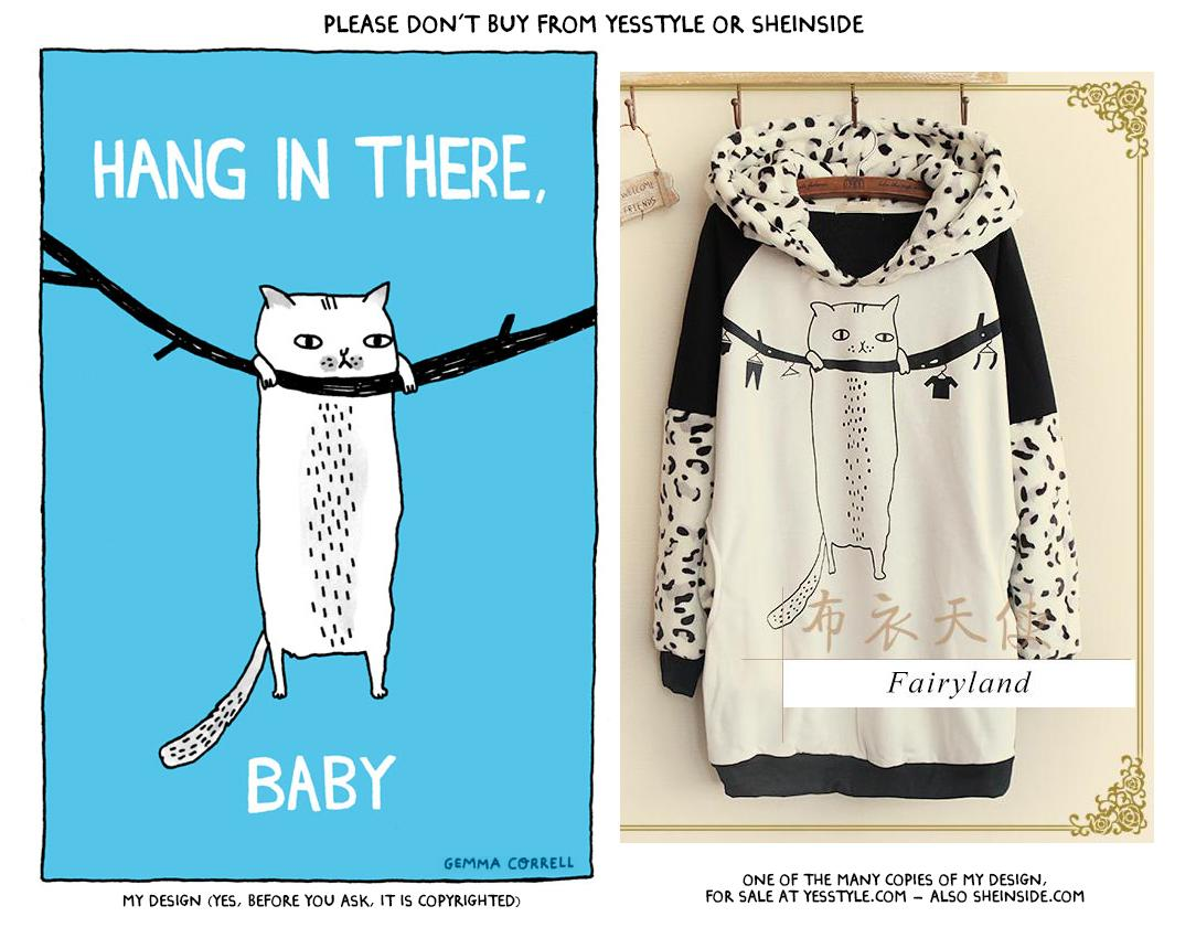 Please don't buy from places like @YesStyle. They steal artists' work (e.g. My Hang In There design, as seen here) http://t.co/25wyhJUfCa
