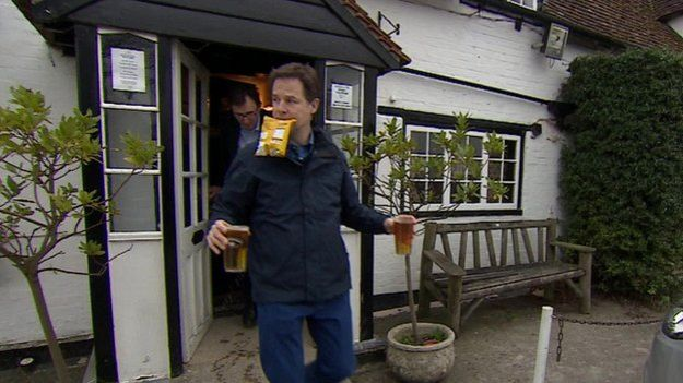 Two pints of lager and packet of crisps - Clegg Edition: http://t.co/APQ2PlijD0