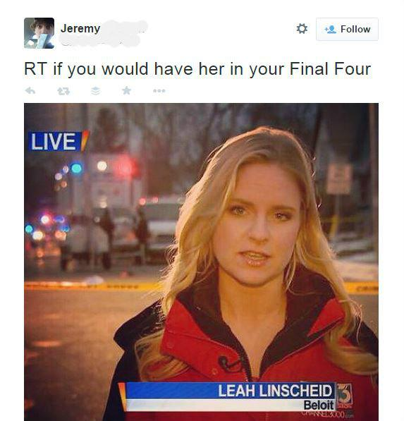 When you do a story on high schoolers creating a bracket of good looking girls... @news3leah http://t.co/W9YbXbxhy7