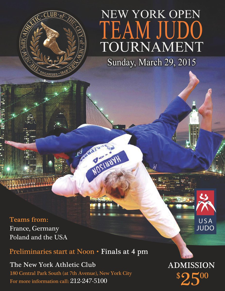 Mark your calendars for the New York Open Team Judo Tournament this upcoming March 29! http://t.co/riS6xd0guv